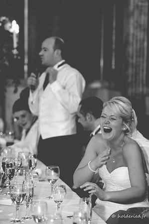 éclats de rires de la mariée