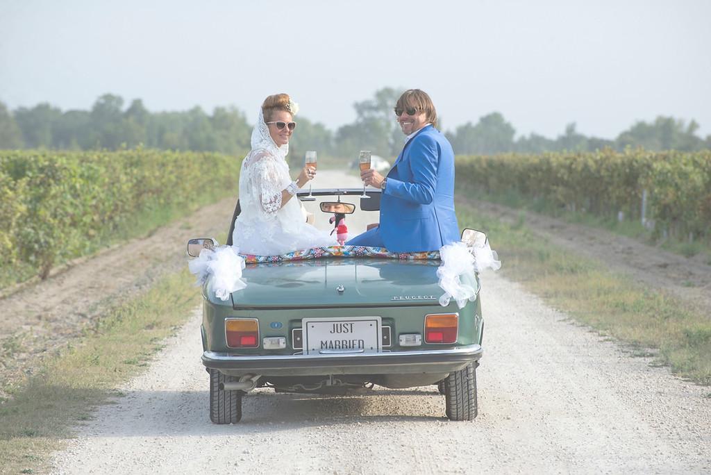 Les mariés - photographe montpellier mariage