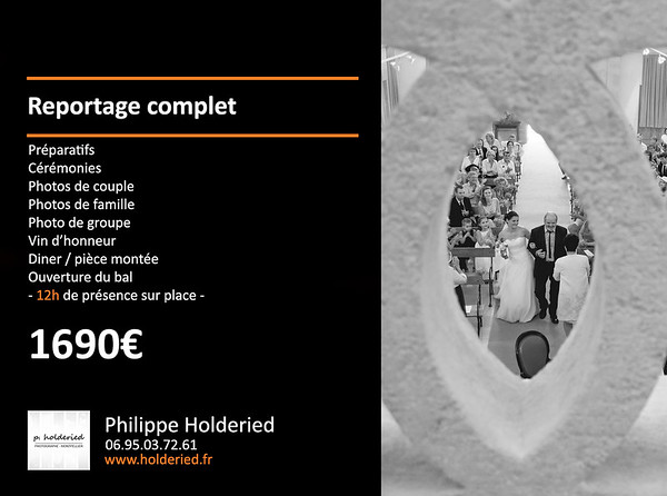 tarif photographe mariage 2019 / 2020
