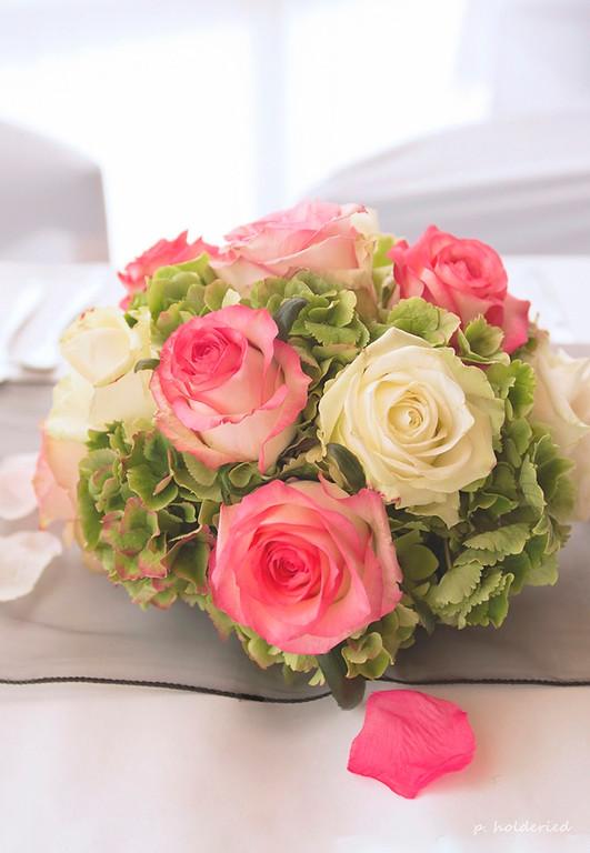 fleurs de décoration de table -  Philippe Holderied photographe mariage montpellier