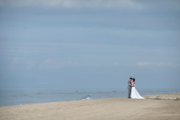 Le couple sur la plage
