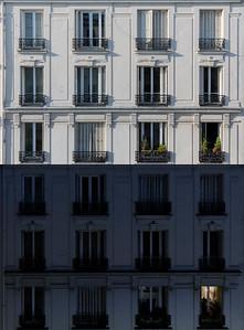 Jour et Nuit.  Autour de nous, je constate que bien plus de 17% de nos voisins ont quité Paris. Dans les immeubles alentour, 2 ou 3 appartements, seulement, sont encore occupés. 📰 Article du monde ☞https://tinyurl.com/ug9pxyd  #paris #parisphoto #RestezChezVous #stayathome #covid19 #lightexmachina