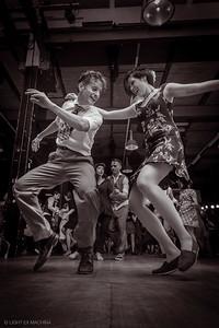 Joyful dancing