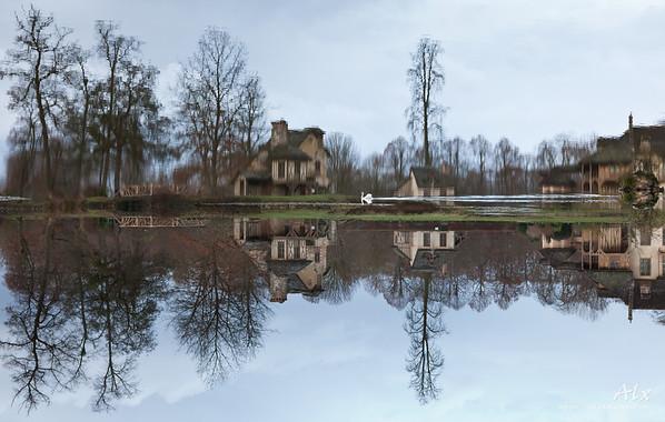 Reflections  Jardins de Versailles, Hameau de la Reine Reflet, miroir de nos réflexions.