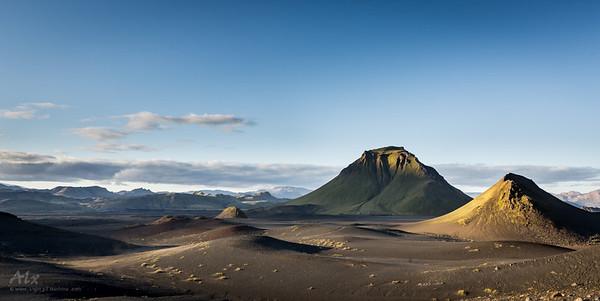 Hattfell old volcano in Emstrur