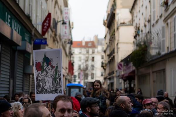 Le dessin de Plantu de La République comme autre signe de ralliement.