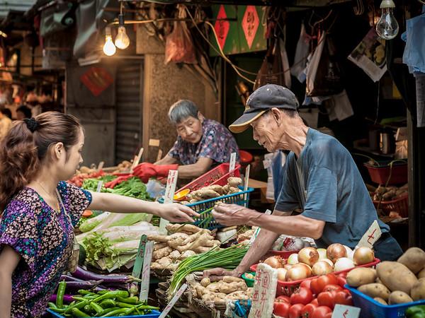 A popular market / Street HK