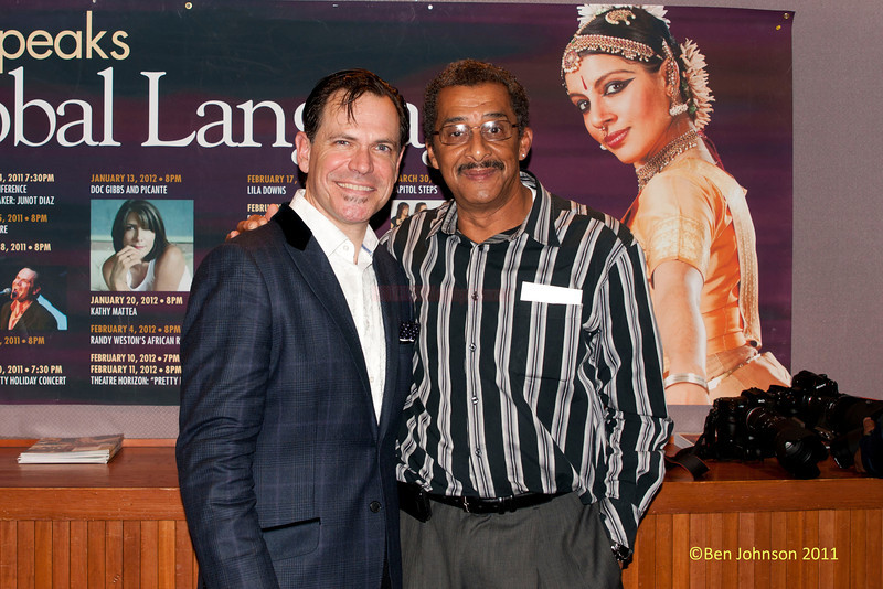 Photographer Ben Johnson and Kurt Elling at The Montgomery County Community College in Blue Bell, Pennsylvania on December 3, 2011
