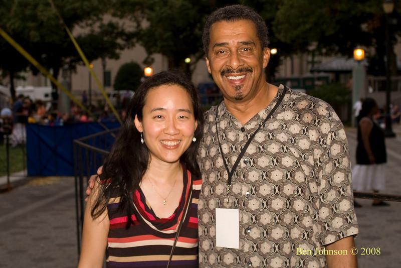 Pianist Helen Sung & Ben Johnson at  the 2008 Clifford Brown Jazz Festival