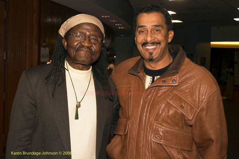 Vocalist Andy Bey and Photographer Ben Johnson