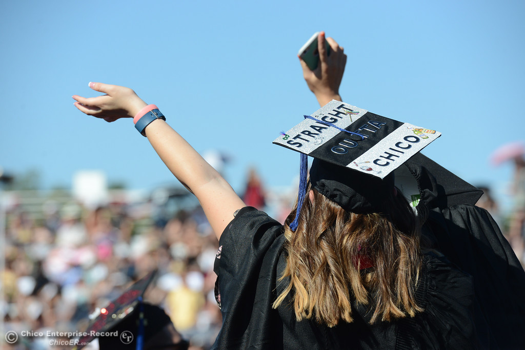 . The Chico State commencement ceremony Sunday, May 21, 2017, at University Stadium in Chico, California.  (Dan Reidel -- Enterprise-Record)