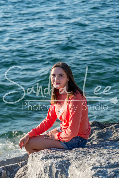 Senior Pictures Bay View Beach Sunset Petoskey