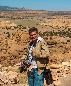Photographer Rich T. Slattery on assignment, New Mexico.
