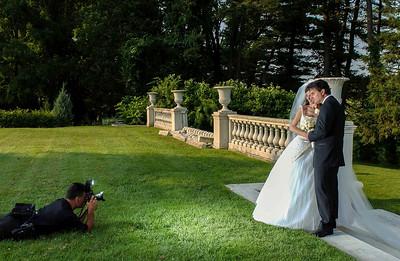 Photographer Rich T. Slattery during a Wedding