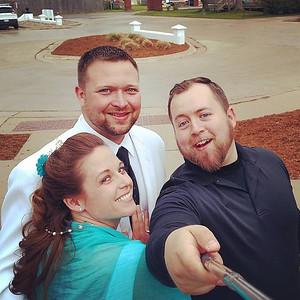 Hans & Renee Wedding Selfie