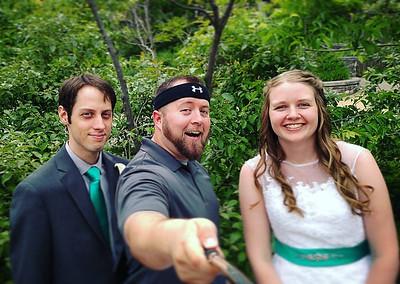 Olmstead Wedding Selfie