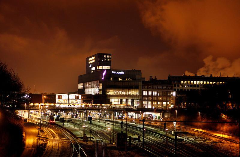 Århus Hovedbanegård by night, 19.1.2010