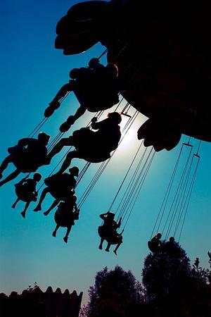 Bonbon-land, forlystelsespark, her børn i luftkarussel, Næstved