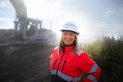 Katrine Von Schimmelmann, fysioterapeut og sikkerhedsrepræsentant på byggepladsen til det nye Skejby Sygehus. Århus, 28.6.2012