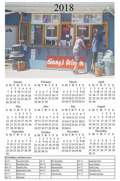 Test Calendars for Ginny's Drive inn