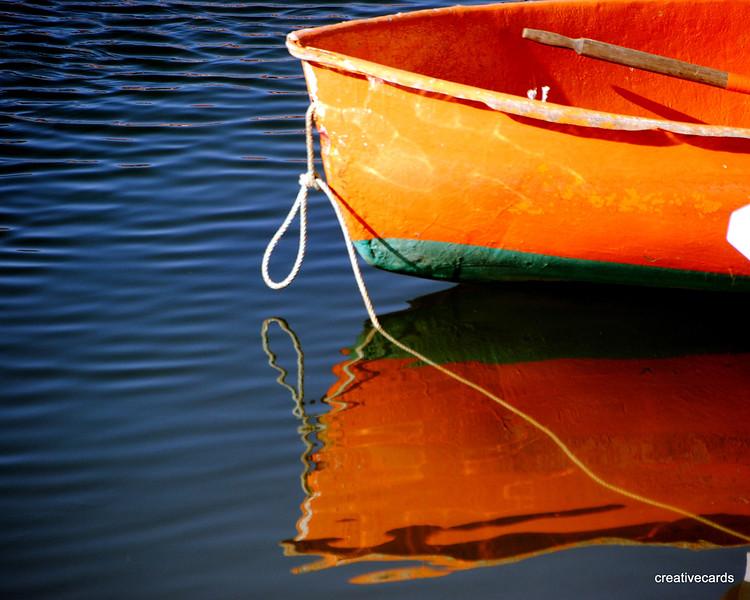 """Orange Reflection at Rockport Harbor"" -  Linda Dahlberg"