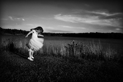 Dancer by the Lake in Black and White