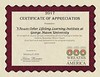 Wreaths across America, Appreciation Certificate