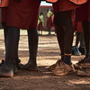 The wide variety of footwear - or lack thereof - within the students at local schools in Walukuba.