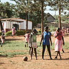 Girls playing netball at one of the schools in Walukuba.  Netball is a very popular sport in Uganda.  It was typically the only sport for girls and only for girls, but X-SUBA coaches are helping them realize that all genders can equally play all sports.