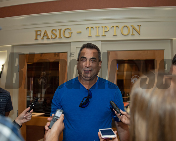 George Sharp, buyer of Hip 647 Front Run the Fed from Elite Sales<br /> Scenes, people and horses at The July Sale at Fasig-Tipton near Lexington, Ky. on July 12, 2021.