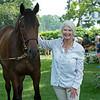 Hip 155 Roadlesstraveled with Jane Lyon at Lane's End<br /> Saratoga sales scenes at Fasig-Tipton in Saratoga Springs, N.Y. on Aug. 7, 2021.