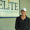 Katelyn Jackson, Elite Sales' sales director.<br /> Scenes, people and horses at The July Sale at Fasig-Tipton near Lexington, Ky. on July 10, 2021.