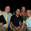 (L-R): John Mulholland, Gary Stevens, Christina Jelm, and Martha Jane Mulholland<br /> Sales scenes at Fasig-Tipton in Saratoga Springs, N.Y. on Aug. 9, 2021.