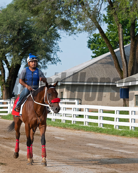 Letruska and trainer Fausto Gutierrez at Keeneland on July 3, 2021.