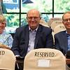 (L-R): Ann and David Hanley and Elliott Walden<br /> Sales scenes at Fasig-Tipton in Saratoga Springs, N.Y. on Aug. 9, 2021.