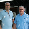 (L-R): Gabriel Duignan and Pat Costello with Paramount<br /> Saratoga training and sales scenes at Saratoga Oklahoma track and Fasig-Tipton in Saratoga Springs, N.Y. on Aug. 6, 2021.