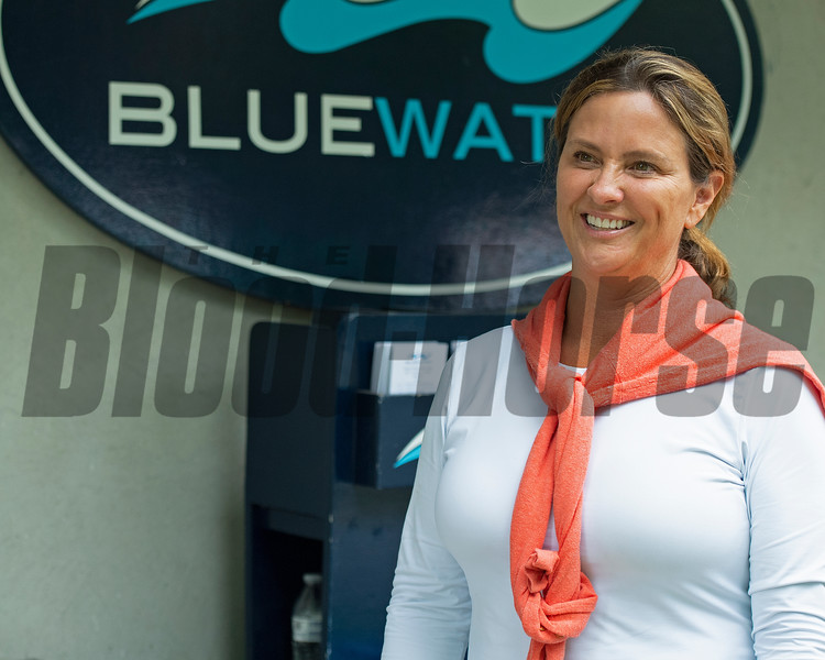 Meg Levy with Bluewater Sales.<br /> Scenes, people and horses at The July Sale at Fasig-Tipton near Lexington, Ky. on July 10, 2021.