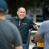 Chad Brown during. morning training.<br /> Horses in training during Travers week in Saratoga on Aug. 27, 2021.