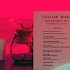 Taylor Made Sales Welcome Center tent offered specialty drinks named after horses. Keeneland January Sales at Keeneland near Lexington, Ky., on Jan. 10, 2021.