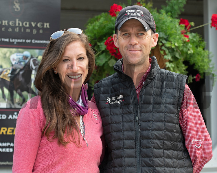 Leah and Aidan O'Meara<br /> at Keeneland September sale yearlings in Lexington, KY on September 16, 2020.