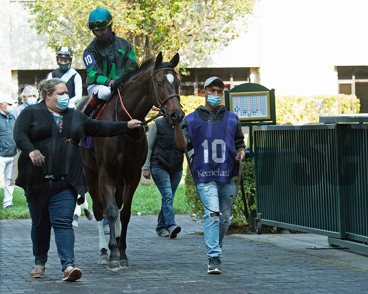 Wicked Bisou  at Keeneland on October 3, 2020.