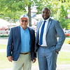 (L-R): Tom Gallo and Najja Thompson at Saratoga Race Course in Saratoga Springs, N.Y., on Aug. 28, 2021.