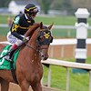 Kaufymaker with John Velazquez in Race 3 for 2-year-olds<br /> Scenes at Keeneland near Lexington, Ky., on April 15, 2021. .