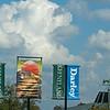Sponsorship scene overlooking the saddling area and sales pavilion.<br />  at Keeneland on Oct. 8, 2021.