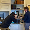 JD Mitchell shoots video with Price Bell Jr. during the Prized Possessions series at Mill Ridge Farm  near Lexington, Ky on Jan. 26, 2021.