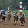 (L-R): Race 3 for 2-year-olds including #9 Bode by You with Corey Lanerie, #5 Kaufymaker with John Velazquez, and #4 Ding Ding with James Graham<br /> Scenes at Keeneland near Lexington, Ky., on April 15, 2021. .