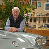 in his workshop with his 1960 Sateen Silver Corvette, horse poster in background<br /> John Williams at his home near Versailles, Ky. on November 18, 2020.