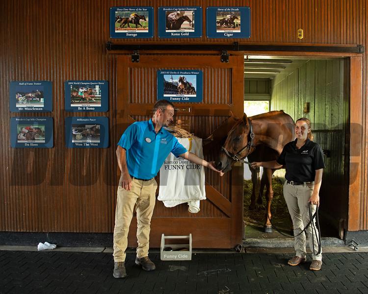 Caption: <br /> Funny Cide  at the Kentucky Horse Park near Lexington, Ky., on Sept. 1, 2020 Kentucky Horse Park in Lexington, KY.