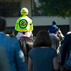 Scene leaving the saddling area<br />  at Keeneland on Oct. 8, 2021.