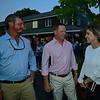 (L-R): Travis Durr, David Hudson, Becky Thomas<br /> Sales scenes at Fasig-Tipton in Saratoga Springs, N.Y. on Aug. 9, 2021.